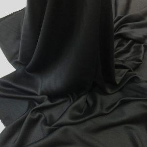 Batist de bumbac satinat negru