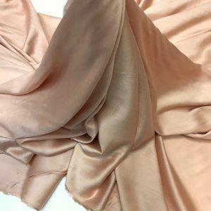 Batist de bumbac satinat nude-piersiciu