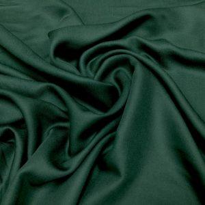 Batist de bumbac satinat verde-inchis