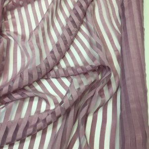 Organza cu dungi roz prafuit