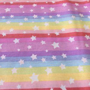 Bumbac ranforce imprimeu multicolor stele