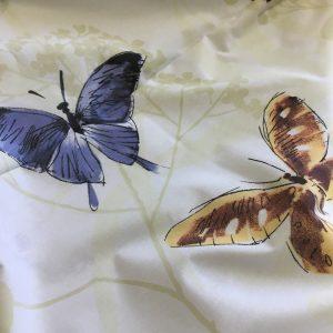 Bumbac ranforce imprimeu fluturi