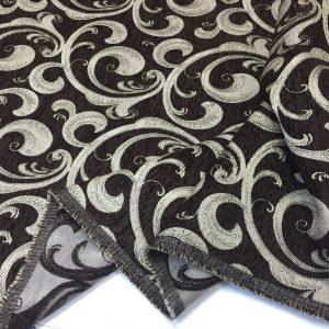 Tesatura tapiserie wenge-bej