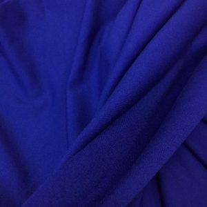 Jerse din bumbac cu elastan albastru-royal