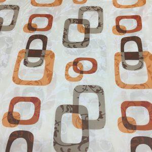Bumbac ranforce imprimeu geometric