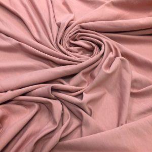 Jerse din bumbac cu elastan roz-pudra