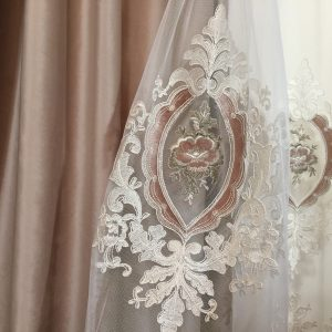 Catifea draperie bej-rose