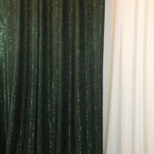Material draperie verde-inchis