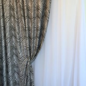 Material draperie gri-negru