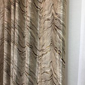 Material draperie bej-maro