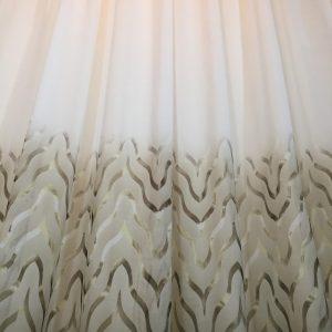 Perdea ivoire bordura imprimata