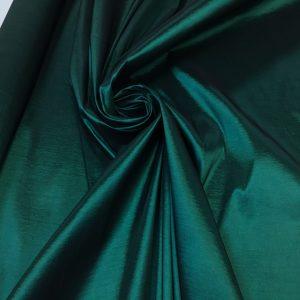 Tafta elastica subtire verde-marin