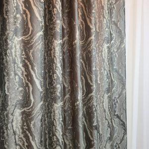 Material draperie satinat greige-crem