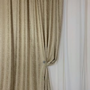 Material draperie bej auriu