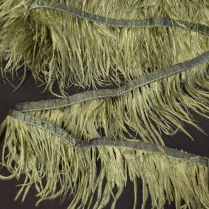 Banda satinata khaki cu fulgi de strut