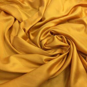 Batist de bumbac satinat galben-mustar