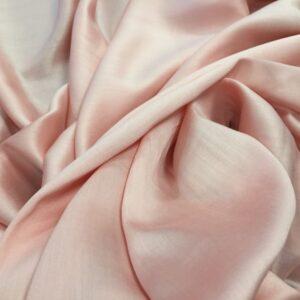 Batist de bumbac satinat piersiciu-rose