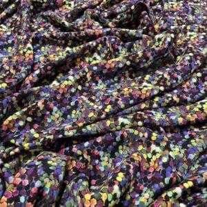 Batist de bumbac imprimeu multicolor