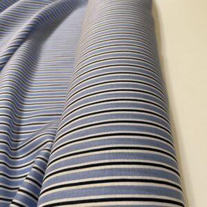 Batist de bumbac dungi bleu-alb