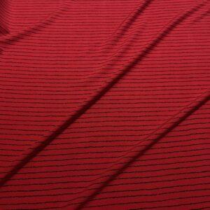 Batist de bumbac rosu cu dungi negre