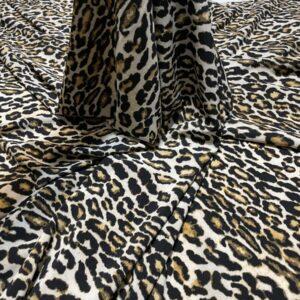 Crep subtire animal print