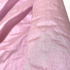 Shantung de matase naturala roz pastel
