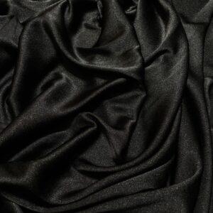 Crep satinat Cady negru